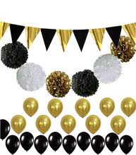 black and gold party decorations black tissue paper promotion shop for promotional black tissue