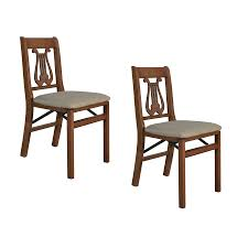 Furniture Lowes Folding Chairs Lowes Shop Stakmore 2 Pack Indoor Wood Cherry Standard Folding Chairs At
