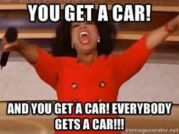 You Get A Car Meme - oprah explains everybody gets a car 95 1 wape