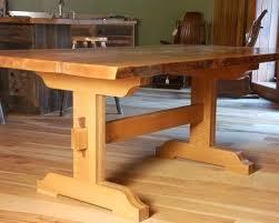 trestle base dining table trestle base table tubep me