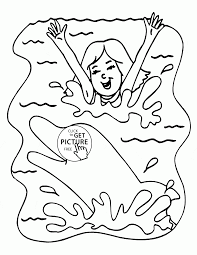 and dolphin in summer coloring page for kids seasons