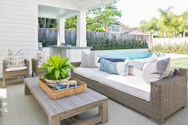 wicker outdoor sofa weathered gray outdoor sofa design ideas