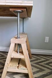 ana white build a industrial adjustable height bolt bar stool