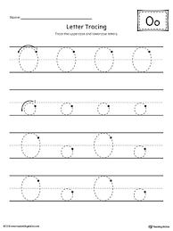 printable letter tracing worksheets letter o tracing printable worksheet myteachingstation com