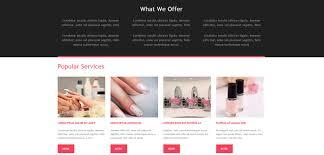 nail salon premium muse template responsive miracle