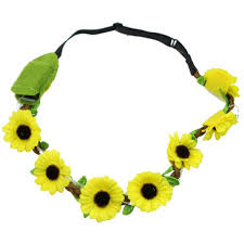 sunflower headband yellow sunflower headbands with lights sohobucks