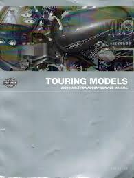 2009 harley davidson touring models service manual part number
