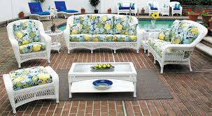 wicker patio furniture sets and chairs new white for 8 lofihistyle
