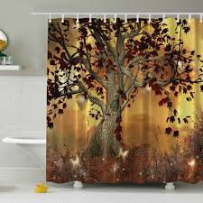 Themed Fabric Shower Curtains Nature Themed Shower Curtains And This Cing Trip