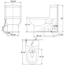 First Flush Diverter Plans by Eago Tb222 One Piece Dual Flush High Efficiency Low Flush White Toilet