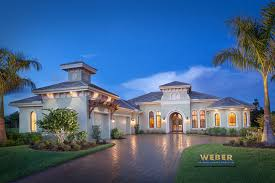 Mediterranean Style Mansion Tuscan Style One Story Homes Print Elevation View Larger Image