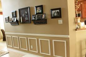 Decorative Wall Frame Moulding How To Fake Wainscoting Decorchick