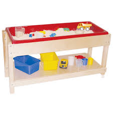 sand and water table with lid amazon com wood designs wd11810 sand and water table with top shelf