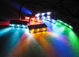 auto motorcycle led light pod 12 volt 3 leds chrome 5 pack