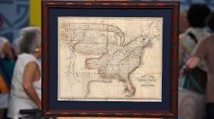 Framed Maps Of The United States by Antiques Roadshow Appraisal 1833 Churchman Eagle Map Of The