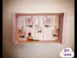decoupage shabby chic shelves diy vintage ideas decorations craft
