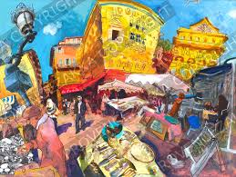 photo montage painting mix provence decoration the provence