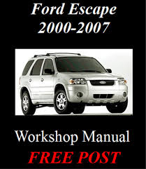 ford escape mazda tribute 2000 2007 2 3l u0026 3 0l workshop