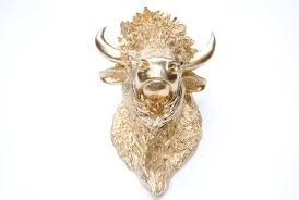 near and deer faux taxidermy bison head wall décor u0026 reviews wayfair