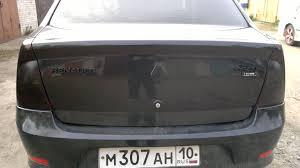 renault logan trunk покрасил задние шильдики u2014 бортжурнал renault logan 2011 года на