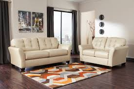 ashley home decor ashley santiago cream sofa and love genuine leather dream 99802 38
