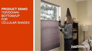 Top Down Bottom Up Shades Top Down Bottom Up Lift For Cellular Shades Justblinds Com Video