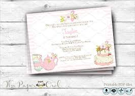 birthday tea party invitations choice image invitation design ideas