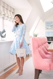 Rhode Island traveling outfits images Blue lace skirt set at the ocean house rhode island extra petite jpg
