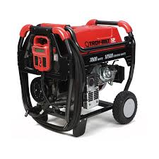shop troy bilt xp 7000 running watt portable generator with briggs