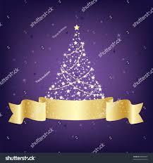 purple gold christmas tree decoration blank stock vector 88000339