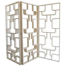 Mid Century Room Divider Three Mid Century Panel Screens Room Dividers Bookcases By