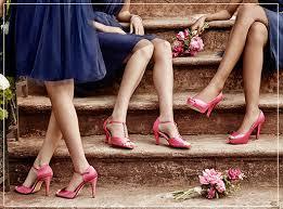 bridesmaid heels color themed bridesmaid shoes david s bridal