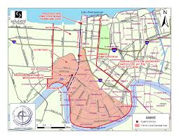 New Orleans Louisiana Map by Repetitive Flood Portal