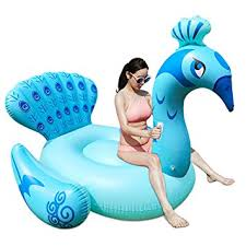 amazon pool floats amazon com color you inflatable peacock swimming pool floats ride