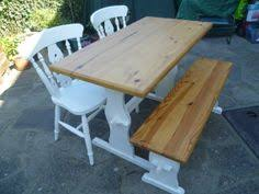 Shabby Chic Kitchen Table by Shabby Chic Pine Kitchen Table And 4 Chairs Bench Seat Annie
