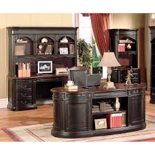 Espresso Computer Desk With Hutch by Furniture Create A Home Office In A Small Space With Credenza