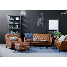 Leather Sofa Tufted by Leather Sofa With Deeply Pulled Diamond Tufting By Magnolia Home