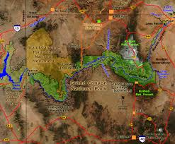Grand Canyon Arizona Map by Geology Of National Parks