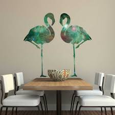 intergalactic flamingo wall decal set by chromantics space