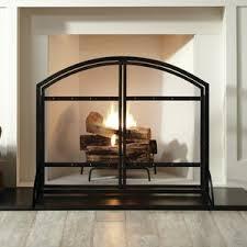 Single Fireplace Screen by Rustic Fireplace Screens You U0027ll Love Wayfair