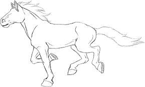 anime clipart animated horse pencil and in color anime clipart