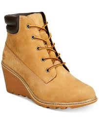 womens boots and shoes timberland s amston wedge booties boots shoes macy s