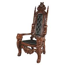 Throne Chair Design Toscano The Lord Raffles Leather Throne Armchair