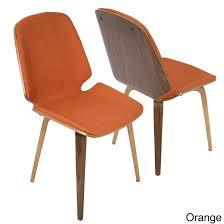 serena walnut mid century modern dining chairs set of 2 free