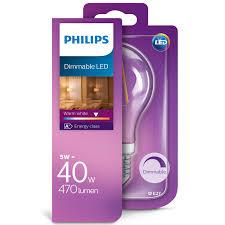 philips 40w e27 led dimmable light bulb lighting b u0026m