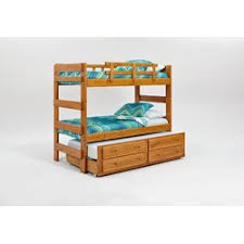 Twin Over Twin Bunk Beds With Trundle by Chelsea Home Extra Tall Twin Over Twin Bunk Bed With Trundle And