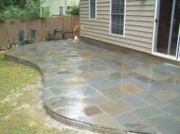Rock Patio Design Flagstone Patios With Moss Flagstone Patios Design Ideas Picture
