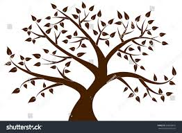 brown tree decorative brown tree silhouette stock vector 239683816