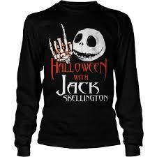 halloween with jack skellington shirt hoodie sweater tank top