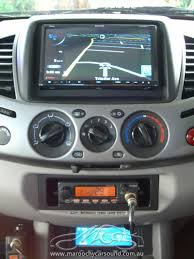 mitsubishi triton 2007 mitsubishi triton in dash gps navigation bluetooth u0026 relocate the